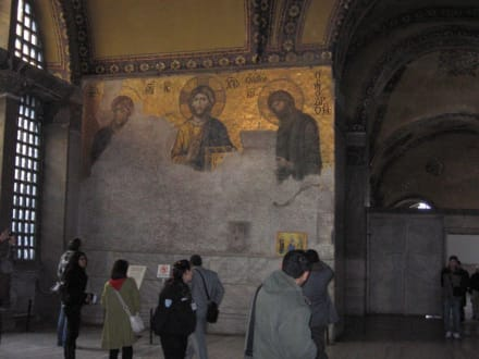 Mosaikbild in Hagia Sophia - Hagia Sophia / Ayasofya