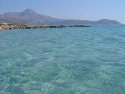 Türkisblaues Wasser wie in der Karibik - Strand Falassarna