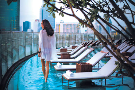 Infinity Pool on the 4th floor -