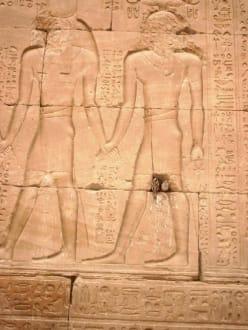 Böse oder schlaue Vögel - Horus Tempel Edfu