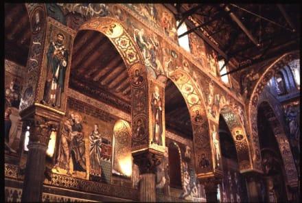 Sizilien, Palermo, das Innere der Cappella Palatina - Cappella Palatina