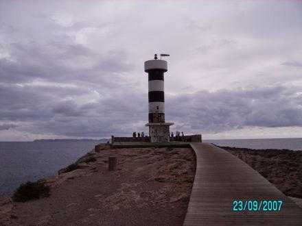 Weg und Leuchtturm - Leuchtturm Colonia Sant Jordi