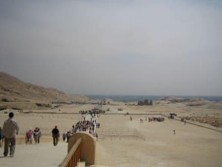 Die Aussicht vom Hatschepsut Tempel aus. - Tempel der Hatschepsut