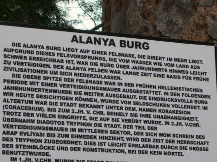 Hinweistafel - Burg von Alanya  (Ic Kale)