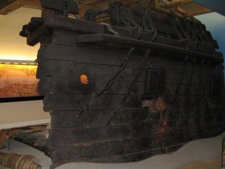 Teil eines alten Schiffes - Museum für Hamburgische Geschichte