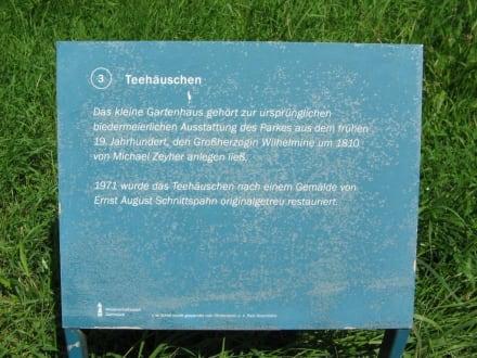 Beschreibung Teehäuschen - Rosenhöhe Park