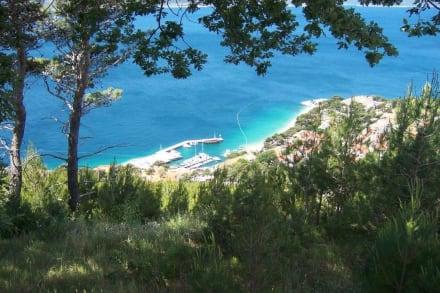 Blick auf Brela - Strand Punta Rata