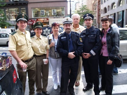 Deutsche Polizeibeamte auf der 5 th Av. - Steuben Parade New York