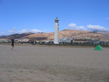 Der Faro, Orientierungspunkt am Strand von Jandia - Leuchtturm Morro Jable