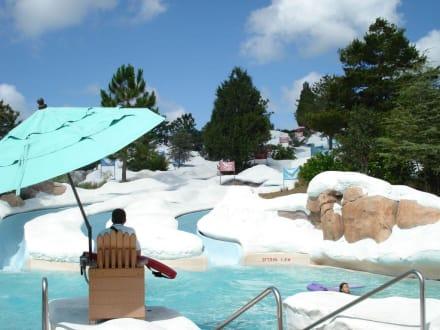 Schöne Eislandschaft - Wasserpark Blizzard Beach