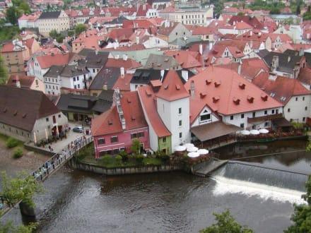 Blick auf Krumau - Burg & Schloß Český Krumlov (Krumau)