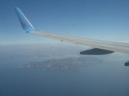Anflug auf Rhodos - Westküste