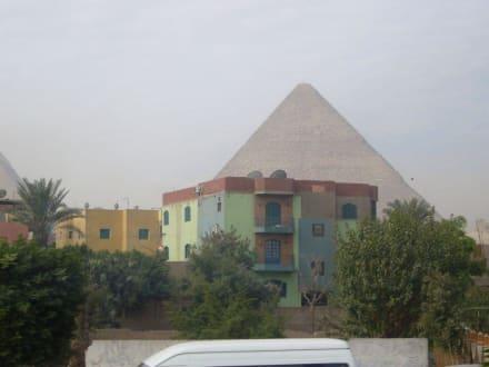 Blick aus dem Bus - Pyramiden von Gizeh