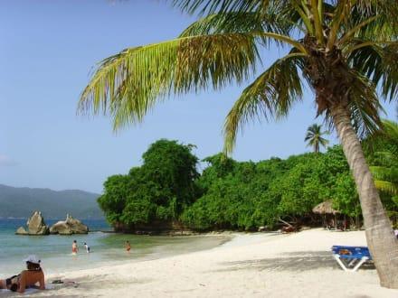Hier dürfen sich die Ausflügler tummeln - Bacardi Insel - Isla Cayo Levantado