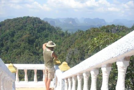 Der Ausblick vom Tempel über die Provinz Krabi - Tiger Cave Tempel (Wat Tham Sua)