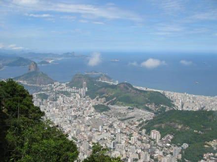 Ausblick vom Corcovado auf Rio - Christusstatue Cristo Redentor