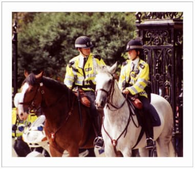 Bobby's hoch zu Roß - Buckingham Palace