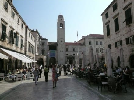 Landgang in Dubrovnik - Glockenturm Luža Dubrovnik