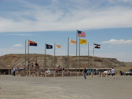 Das Four Corners Monument liegt auf Navajoland - Four Corners