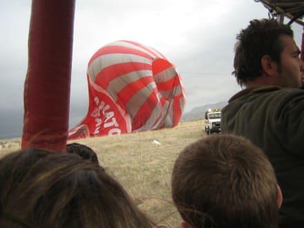 Gelandeter Ballon - Ballonfahrt Kappadokien