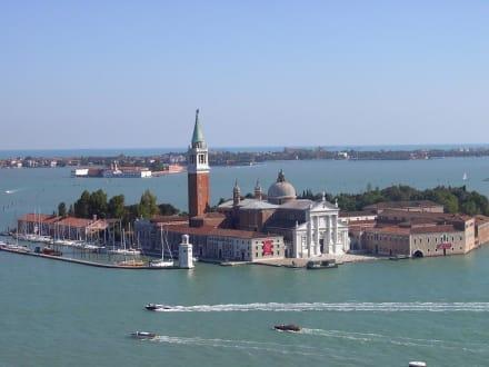 Blick von der Campinelle auf San Giorgio - Basilica San Giorgio Maggiore