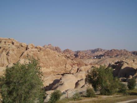 Blick von der Terrasse - Crowne Plaza Resort Petra