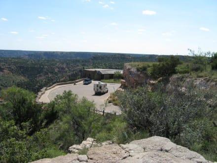 Blick auf das visitor center - Palo Duro Canyon
