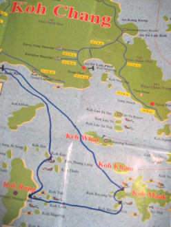 die Route - Schnorchel-Bootstour Kon Tiki Koh Chang