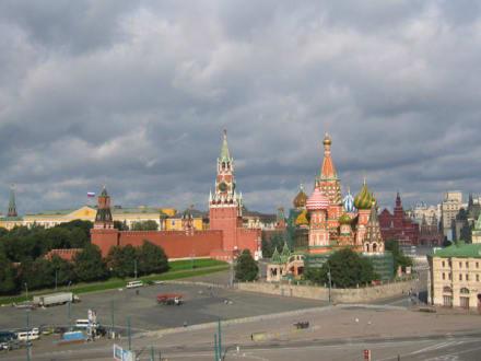 Roter Platz in Moskau - Basilius Kathedrale