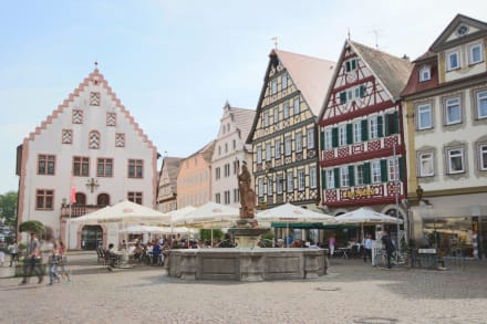 marktplatz bad mergentheim bild altstadt bad mergentheim in bad mergentheim. Black Bedroom Furniture Sets. Home Design Ideas