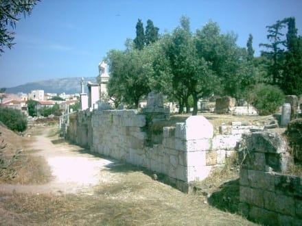 Gräberstraße auf dem Kerameikos - Friedhof Kerameikos