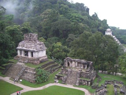 "Wunderschön gelegene Tempelgruppe ""del Norte"" - Maya Pyramiden"