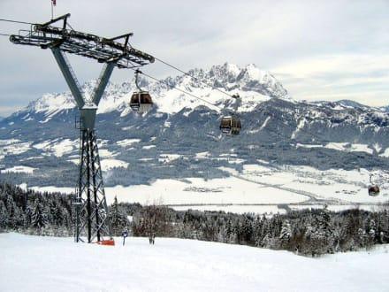 St. Johann in Tirol, Blick auf den Wilden Kaiser - Skigebiet St. Johann