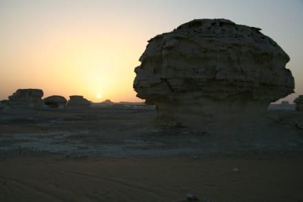 Weisse Wüste, Sonnenuntergang - Weiße Wüste