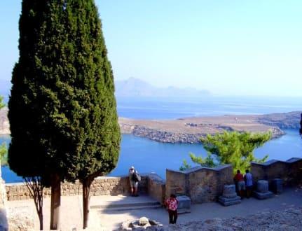 Unterhalb der Akropolis - Akropolis von Lindos
