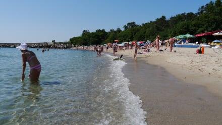 Blick auf die rechte Strandseite (nahe Hotel Albatros ) - Strand Sveti Konstantin
