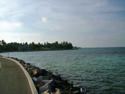 Brücke/Straße zwischen den Inseln - Inselhopping Addu Atoll