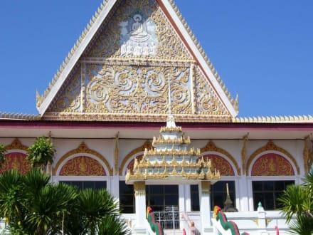 Tempelarchitektur - Weisser Buddha