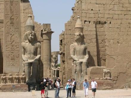 Der erste Pylon - Luxor Tempel