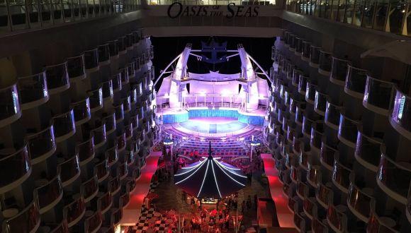 Blick auf das Aqua-Theater
