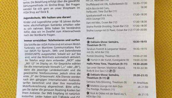 Tolle Preisliste Aida Getränke Bilder - Innenarchitektur-Kollektion ...