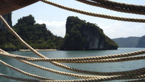 Blick auf eine einsame Insel