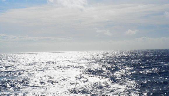 Auf dem Atlantik.