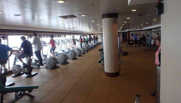 Teilansicht Fitness-Center