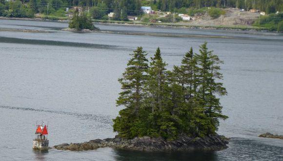 Miniinsel in Alaska