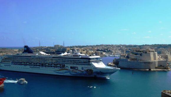 Einfahrt in den Hafen Valletta