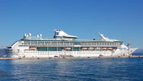 Das Schiff in Korfu