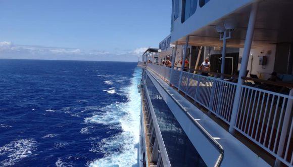 Fahrt auf dem Pazifik