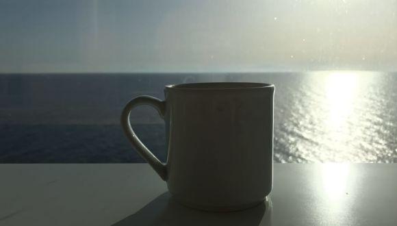 Ausblick bei einer Tasse Kaffee