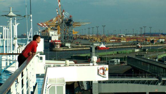 Ankunft nach der Kreuzfahrt in Bremerhaven